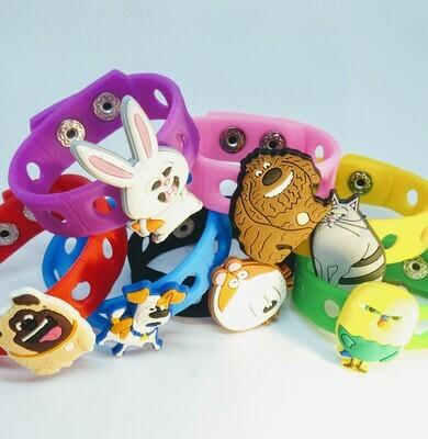 10 Braccialetti personalizzati PETS in 3D gomma silicone pvc morbido gadgets fine festa a tema compleanno bambini