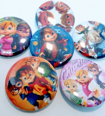 10 Spille 2.5cm zaino scuola personalizzate Alvinnn and the chipmunks
