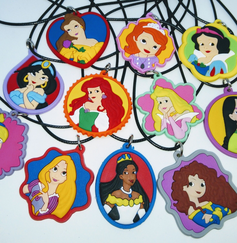 10 Collane Principesse Disney Grande pendente in PVC