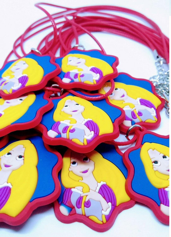 10 Collane Principessa Rapunzel pendente in PVC