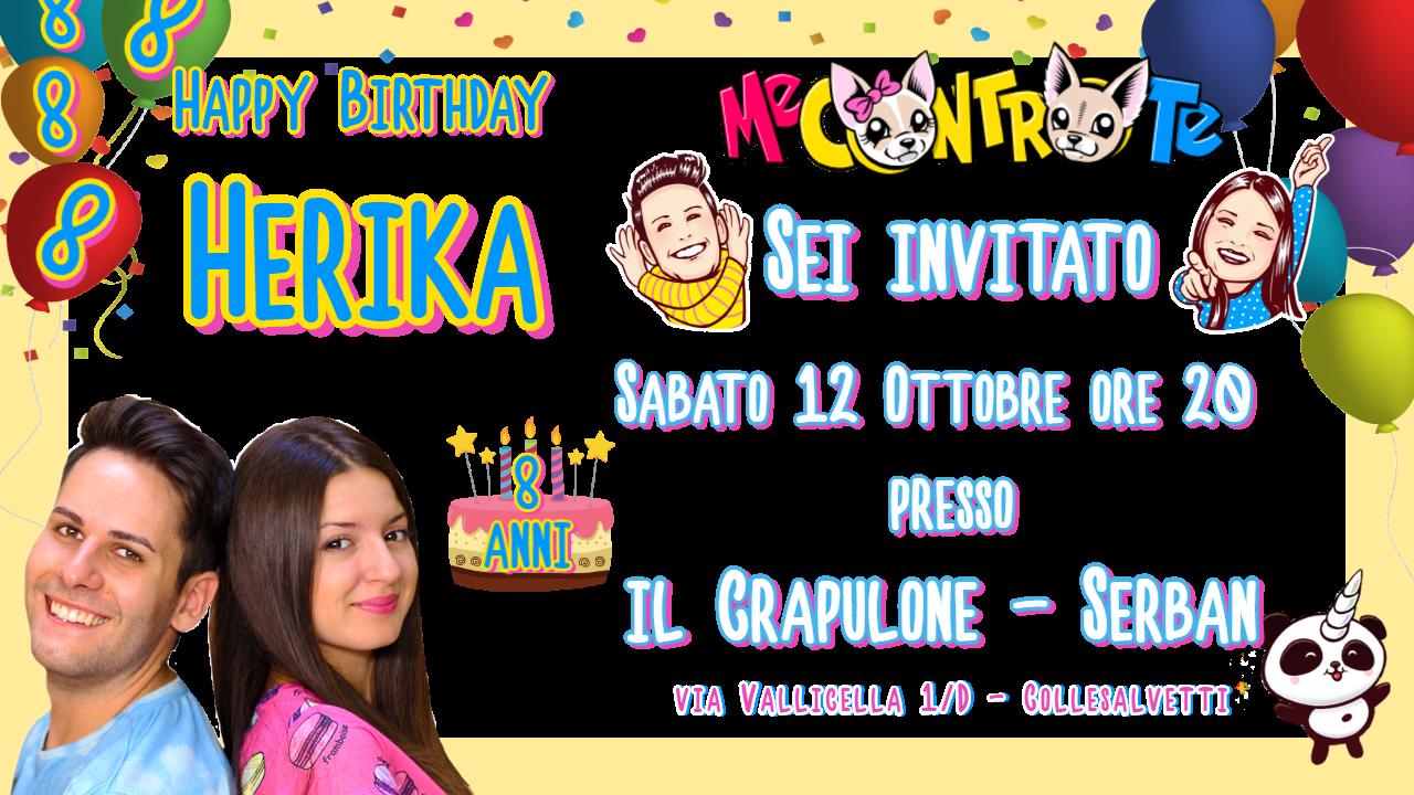 10 Biglietti inviti personalizzati festa compleanno bambini a tema Me contro Te