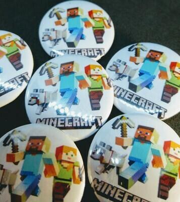 10 Magneti Minecraft 5cm Calamite frigo personalizzabili