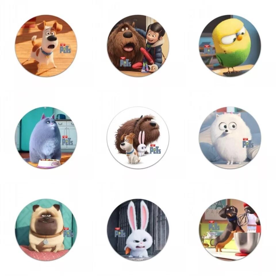 10 Spille 3cm zaino scuola personalizzate Pets 2