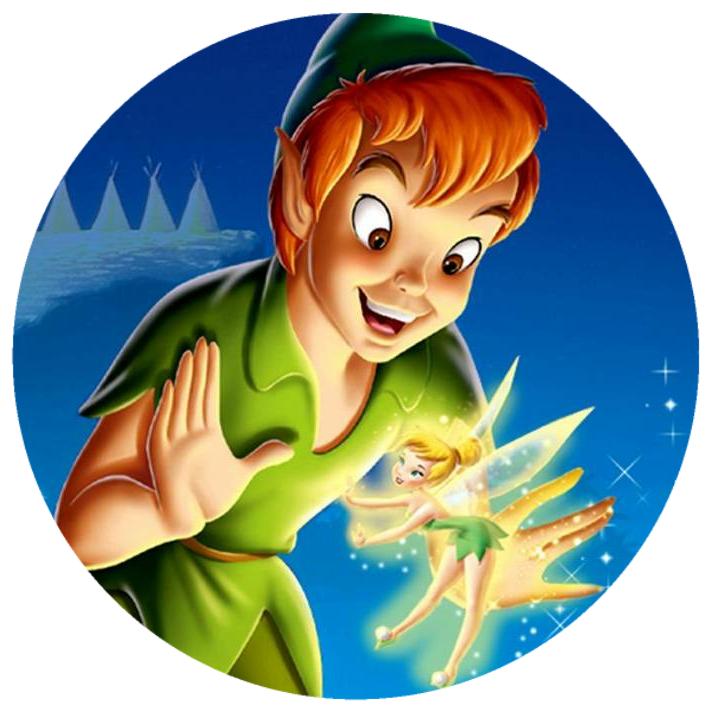 10 Magneti Peter Pan 5cm Calamite frigo personalizzabili