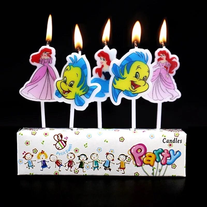 5 candeline Ariel la Sirenetta decorazioni torte festa compleanno a tema