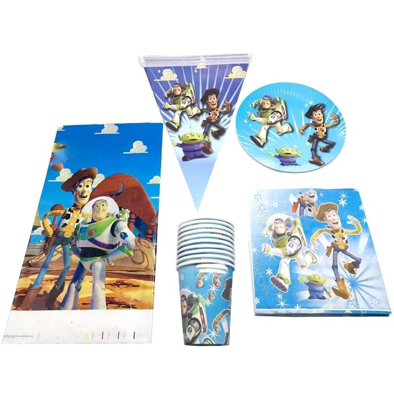 set tavola Toy Story piatti bicchieri tovaglioli Tovaglia Festone bandierine addobbi decorazioni festa compleanno