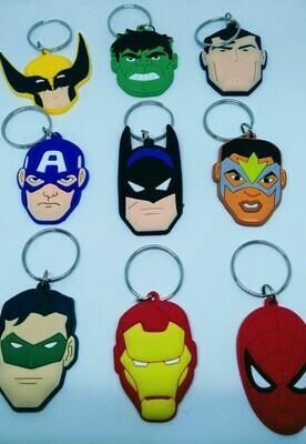 10 portachiavi Super Eroi Avengers chiusura zip lampo zaino scuola