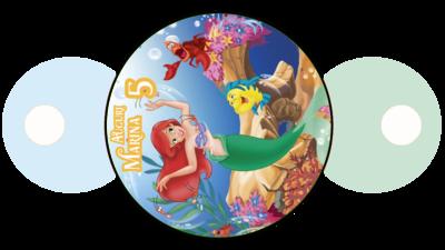 30 pezzi copri cannucce personalizzabili Ariel Sirenetta decorazioni festa a tema