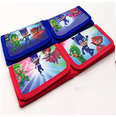 6 portafogli PJ MASKS portamonete Gattoboy Geco Gufetta gadget fine festa compleanno bambini a tema Super Pigiamini