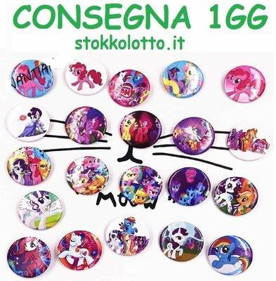 10 Spille 3cm zaino scuola personalizzate my Little pony