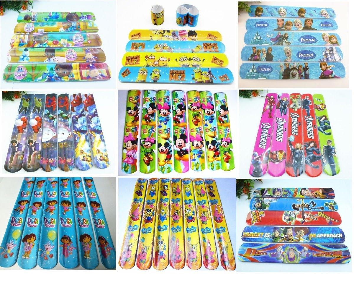 regalini fine festa bambini compleanno  Scegli il Personaggio) 10 Bracciali Slap Gioco Bambini