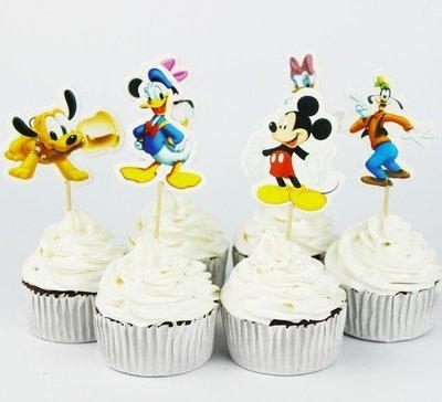 (Scegli il Tema) 24 decorazioni torte topper cake