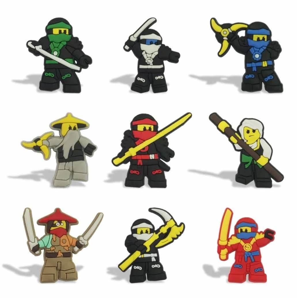 10 magneti Lego Ninjago calamite Frigo a tema Cartoni