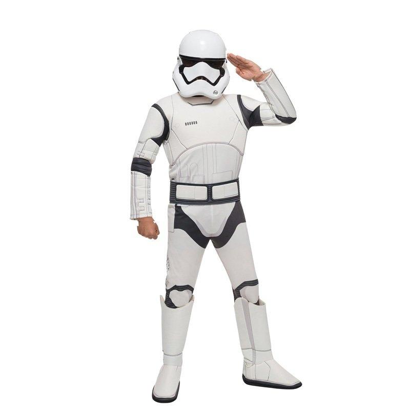 Storm Trooper Star Wars Costume imbottito con muscoli + cintura + maschera di Carnevale cosplay travestimento a tema per bambini misura taglia età 4 5 6 7 8 9 10 11 12 ann