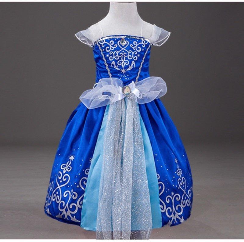 costume Principessa Cenerentola Disney vestito maschera carnevale travestimento bambina