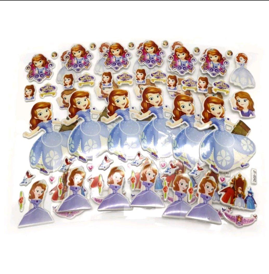 30 fogli stickers Adesivi a tema Principessa Sofia Disney