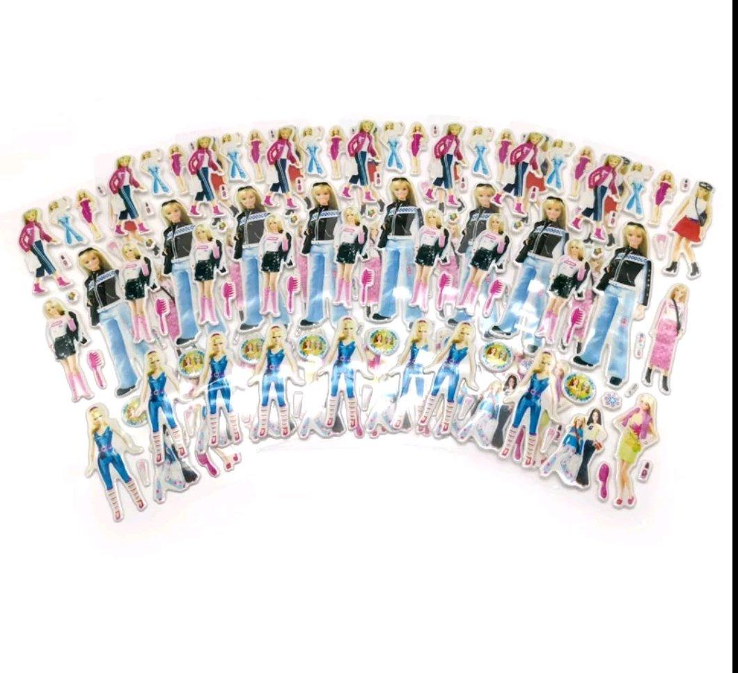 30 fogli stickers Adesivi Principessa Barbie
