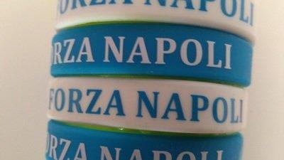 10 braccialetti in silicone personalizzati Forza Napoli