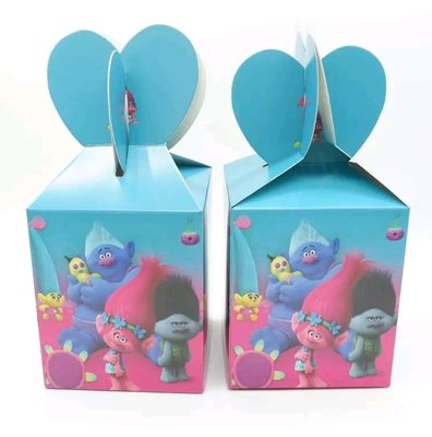 10 Scatoline Regalo Trolls porta Gadgets confetti Caramelle