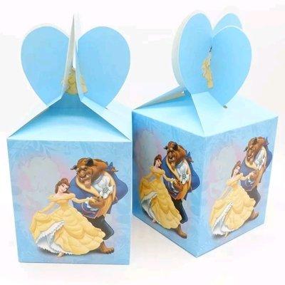 10 Scatoline Principessa Bella e la bestia Regalo porta Gadgets confetti Caramelle
