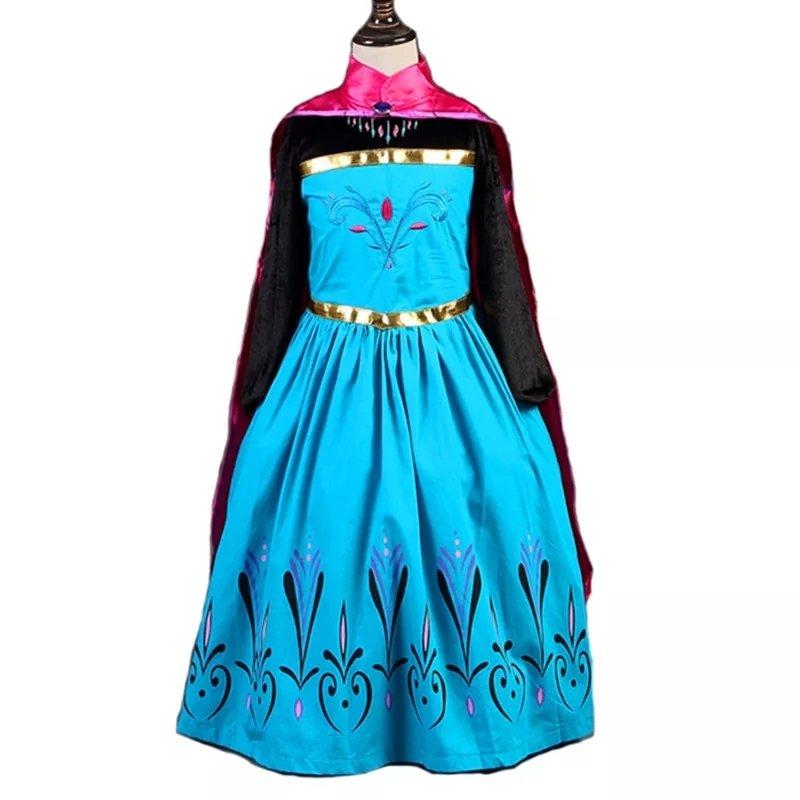 costume Principessa Elsa Frozen Disney vestito maschera carnevale travestimento bambina