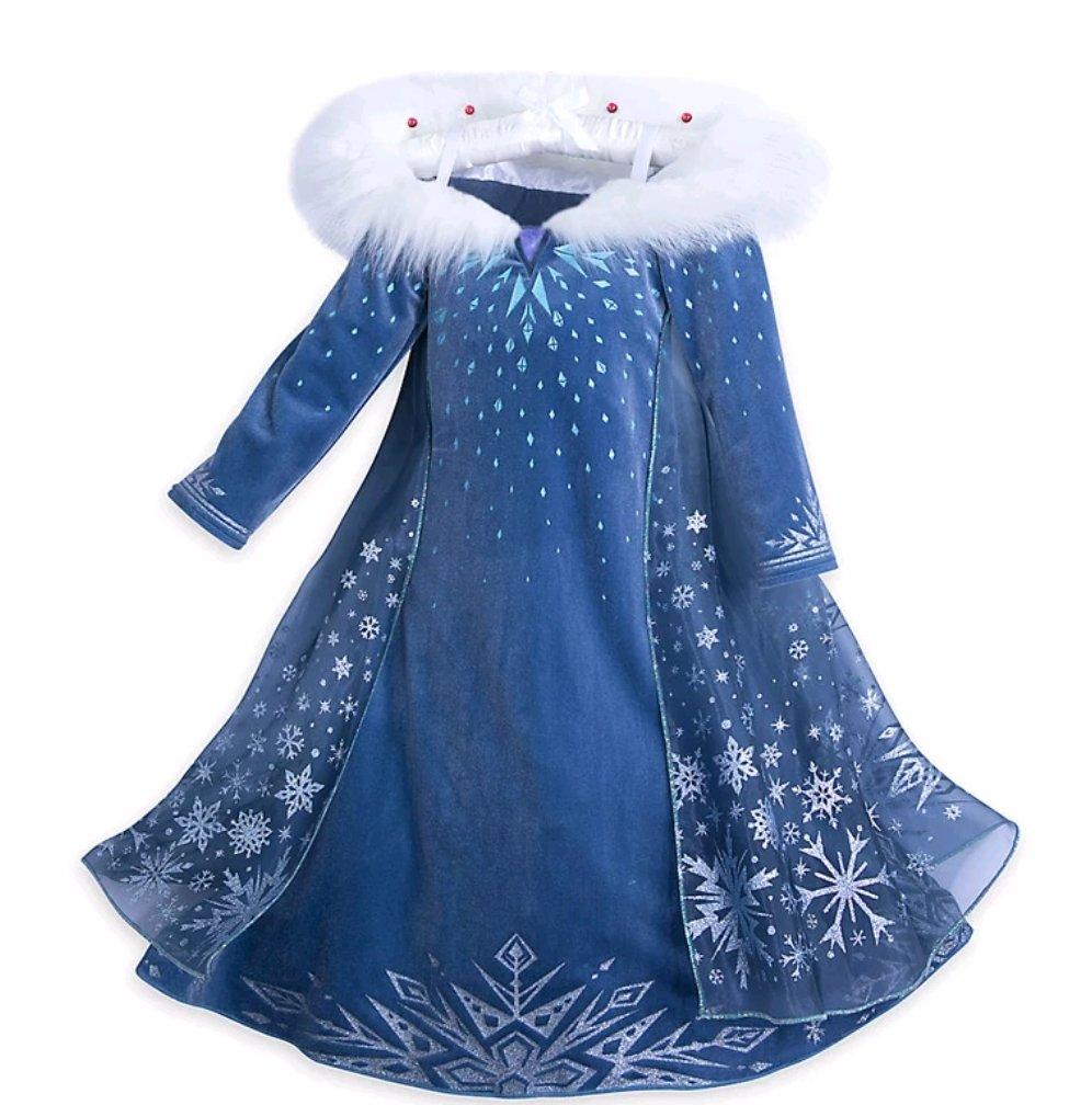 costume Regina Elsa Frozen vestito maschera carnevale travestimento bambina