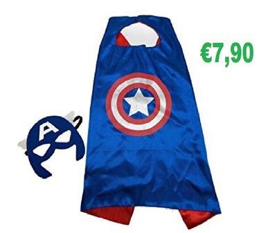 Capitan America Costume maschera carnevale travestimento cosplay
