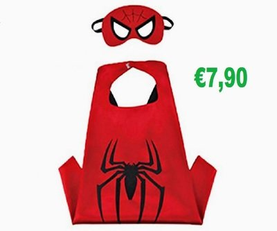Spiderman Costume maschera carnevale travestimento cosplay