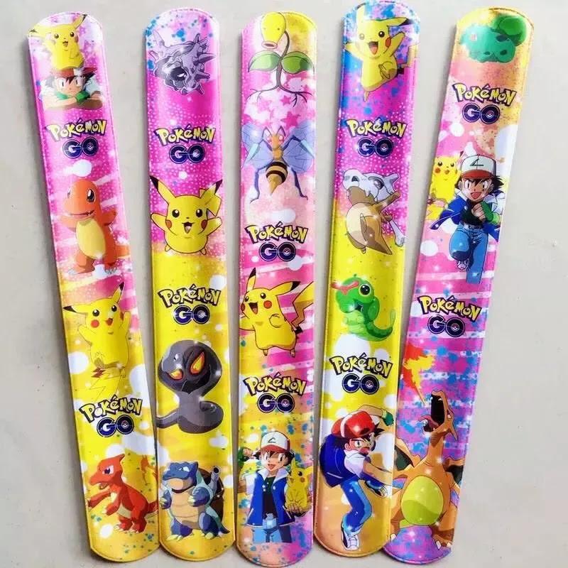 10 Pikachu Pokemon Go Bracciali Braccialetti Slap Gadget A Tema