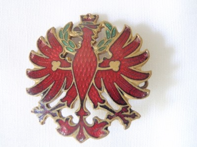 Antique Imperial Russian Seal Red Guilloche Enamel Pin