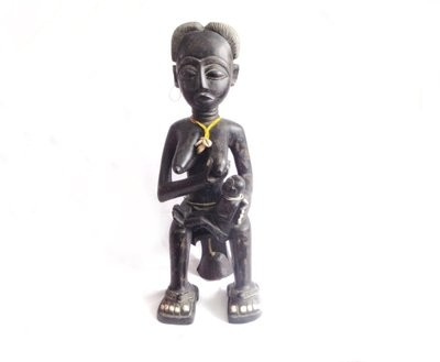 Fante Maternity Figure Ghana Mother Child Sculpture Nursing Figure Fertility Fine African Art