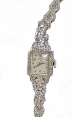 Ladies Hamilton Platinum Diamond  Watch Platinum 1.35 Carats