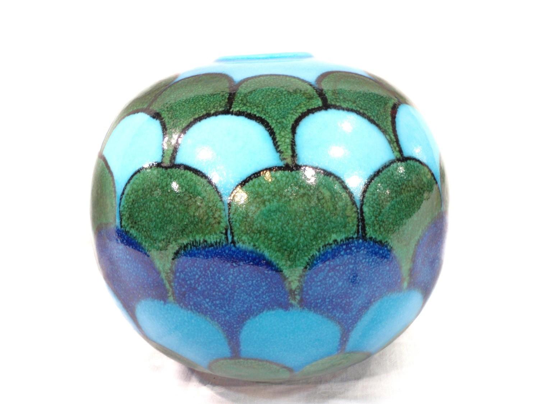 MCM Rosenthal Netter Blue Bitossi Italian Studio Pottery Vase