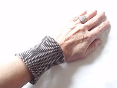 Vintage John Hardy HUGE Silver Mesh Cuff Bracelet