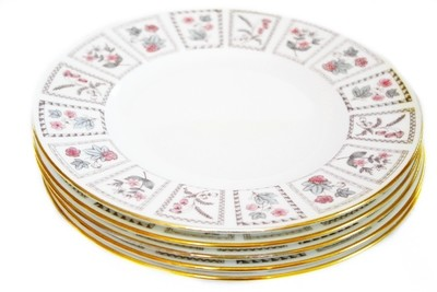 5 Minton Tapestry Fine Bone China Dinner Plates Dishes