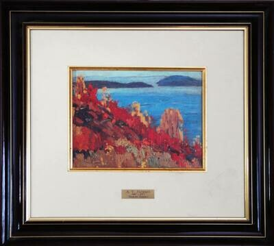 A.Y. Jackson Group of Seven Painting North Shore - Ltd Ed 52 of 460 Oil on Panel