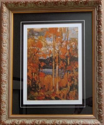 Tom Thomson Ltd Ed 3 of 99 Algonquin October Framed Art Autumn Colors Groups of Seven COA