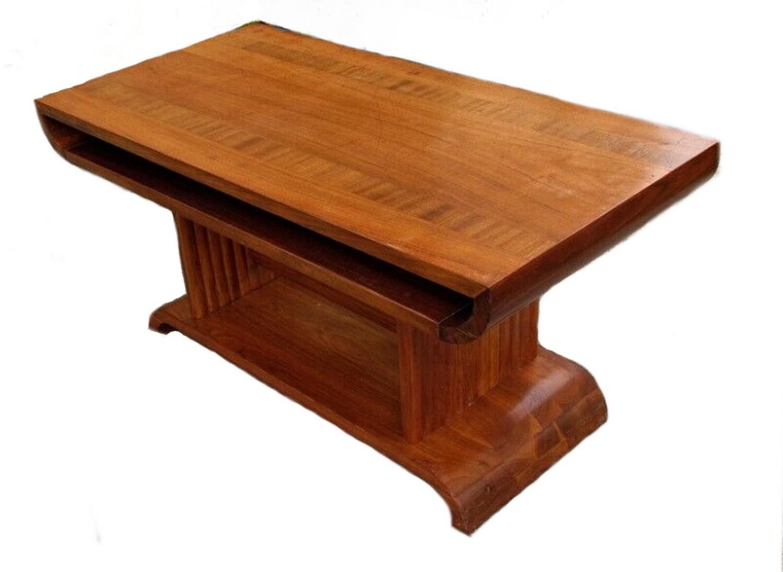Art Deco 1920s Walnut and Mahogany Inlay Coffee Table