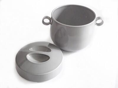 MCM Rare Rosenthal Gray Lidded Bowl German Ceramic Wolf Karnagel