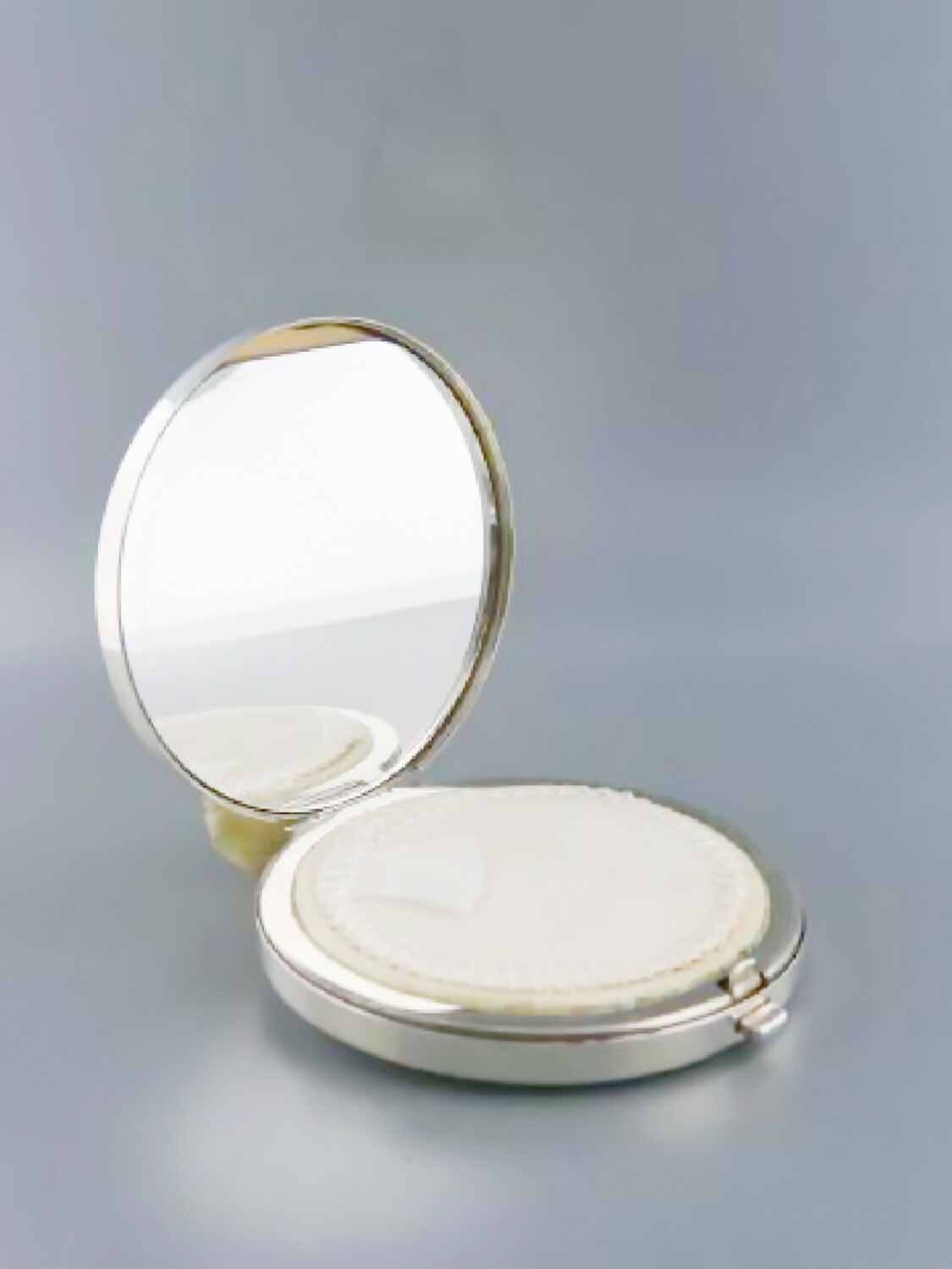 Vintage Tiffany Solid Silver Mirrored Compact Powder Mirror with Box