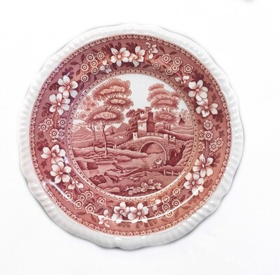 9 Vintage Copeland Spode Pink Tower 7 1/2 Inch Side Luncheon Plates