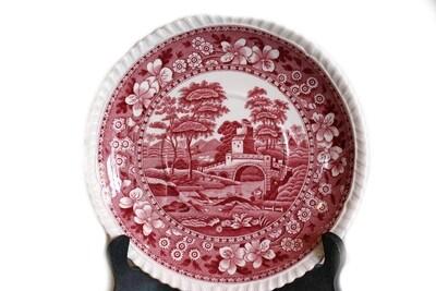 12 Vintage Copeland Spode Pink Tower 10 1/2 Inch Dinner Plates