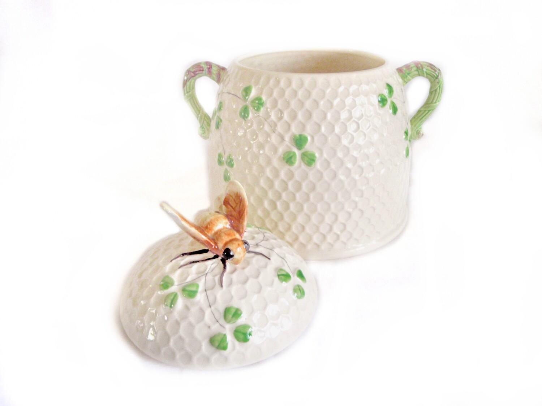 ESD Lefton Bee Honeycomb Cookie Jar Collectible Retro Kitchen