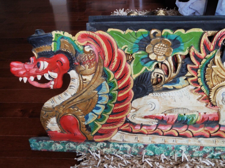 Rumayana Hand Carved LARGE Wood Panel Hindu Wall Art No. 1