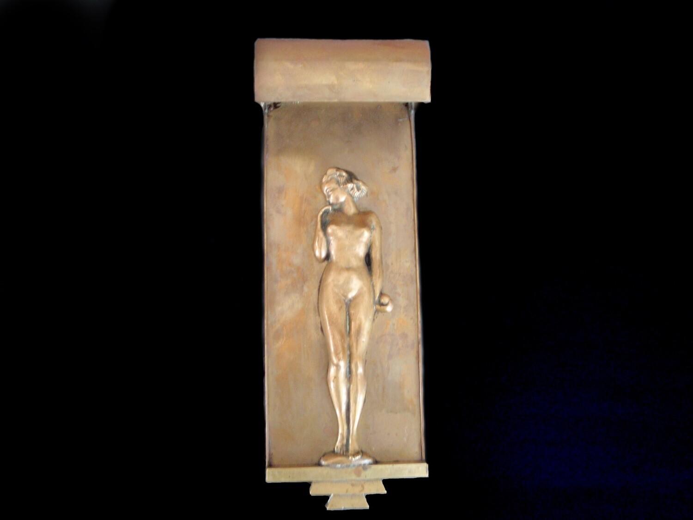 1920s Art Deco Nude Woman Wall Sconce Lighting Vintage Wall Art and Home Decor