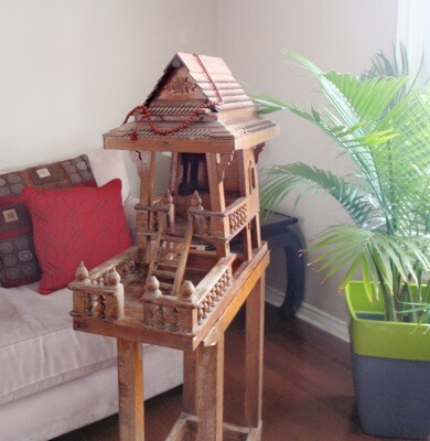 Vintage Wood Floor Shrine Spirit House Spiritual Practice Ancestors Deities Shrine Home Decor