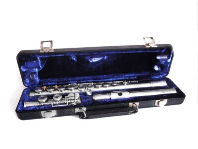 Elkhart Armstrong Silver Plated Flute in Hard Case Never Used 104 Model Flute
