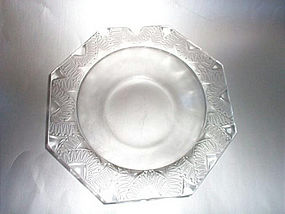 Beautiful Art Deco Lalique Geometric Etched Crystal Bowl