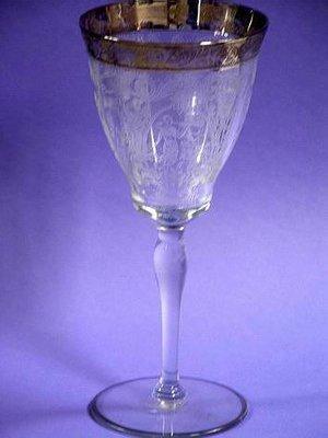 Art Nouveau 5 Fine Cyrstal Silver Gilt Diana the Huntress Wine Goblets