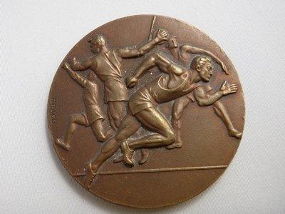 Art Deco Sg'd Drago Bronze  Summer Athletic / Olympic Medal